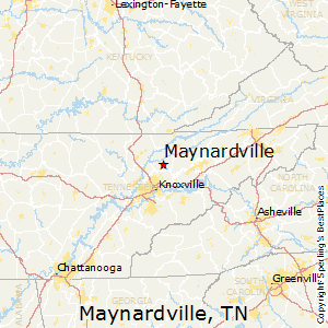 Maynardville,Tennessee Map