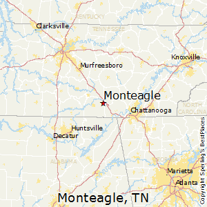 Monteagle,Tennessee Map