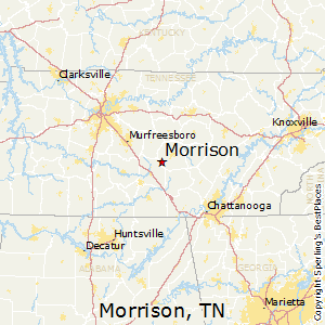 Morrison,Tennessee Map