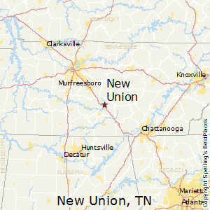 New_Union,Tennessee Map