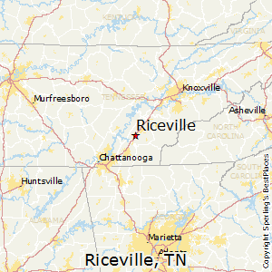 Riceville,Tennessee Map