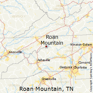 Roan_Mountain,Tennessee Map