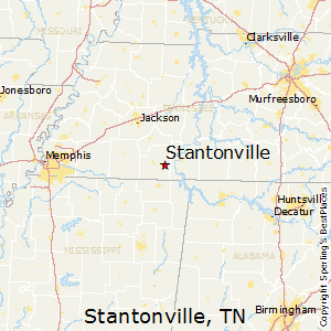 Stantonville,Tennessee Map