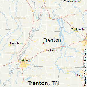 Trenton,Tennessee Map
