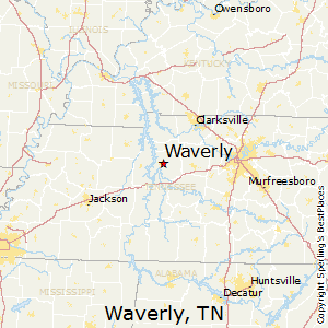 Waverly,Tennessee Map