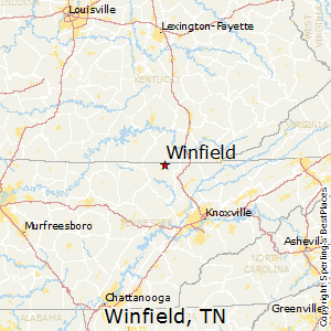 Winfield,Tennessee Map