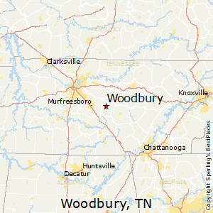 Woodbury,Tennessee Map