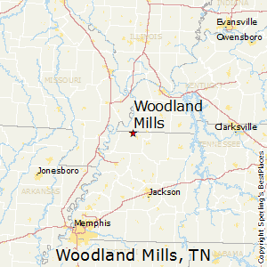 Woodland_Mills,Tennessee Map