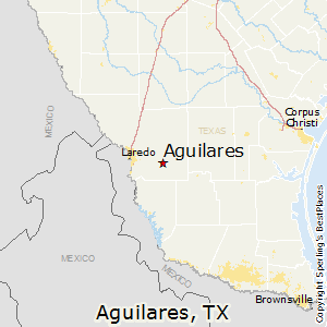 Aguilares,Texas Map