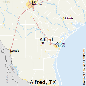 Alfred,Texas Map