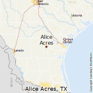 Alice_Acres,Texas Map