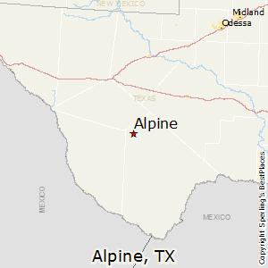 Alpine Texas Map Comparison: Marfa, Texas   Alpine, Texas Alpine Texas Map