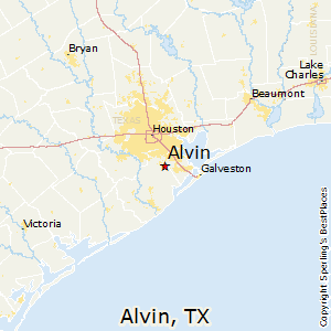 Where Is Alvin Texas On The Map