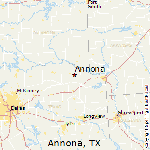 Annona,Texas Map