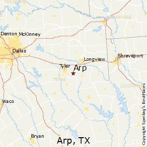 Arp Texas Map