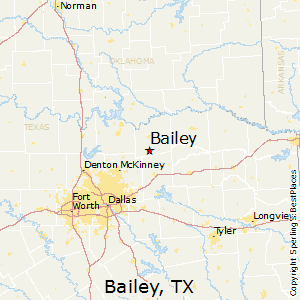 Bailey,Texas Map