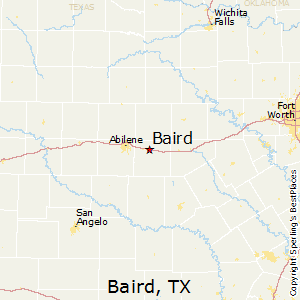 Baird,Texas Map