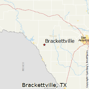 Brackettville,Texas Map