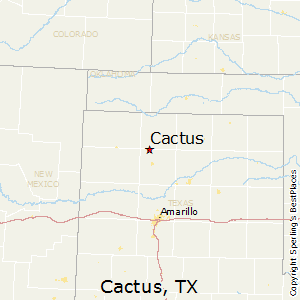 Cactus,Texas Map