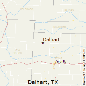 Dalhart,Texas Map