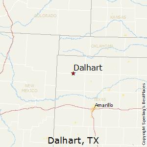 Map Of Dalhart Texas