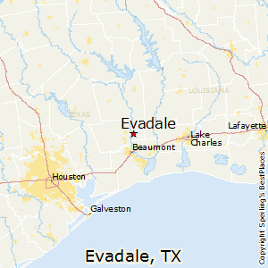 Evadale,Texas Map