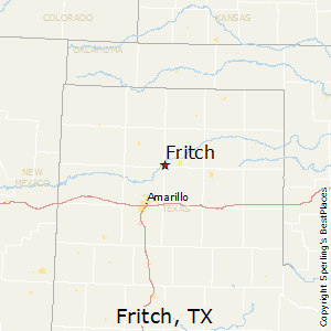 Fritch,Texas Map