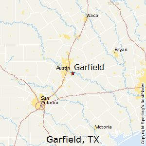 Garfield,Texas Map