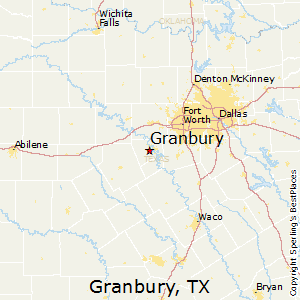Granbury,Texas Map