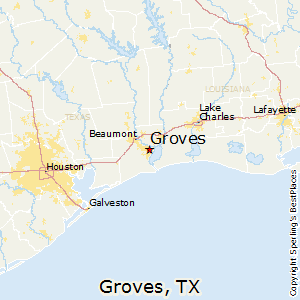 Groves,Texas Map