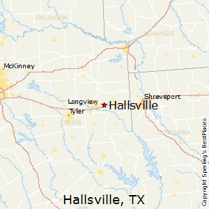 Hallsville,Texas Map