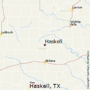 Haskell Texas Map Best Places to Live in Haskell, Texas