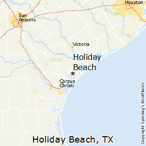 Holiday_Beach,Texas Map