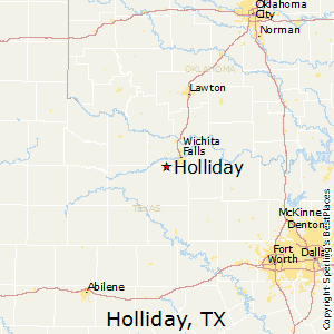 Holliday,Texas Map