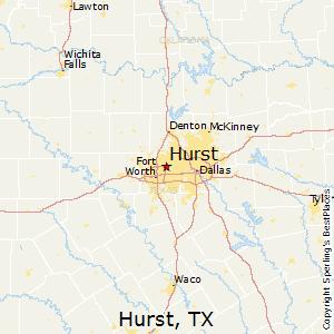Map Of Hurst Texas