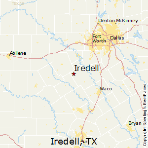Iredell,Texas Map