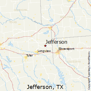 Jefferson,Texas Map