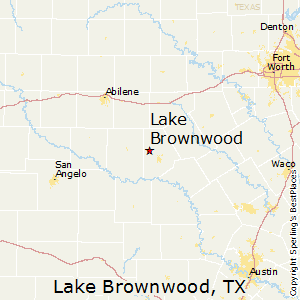 Lake_Brownwood,Texas Map
