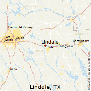 Lindale,Texas Map