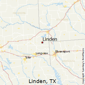 Linden,Texas Map