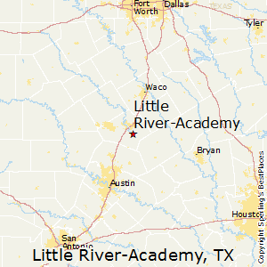 Little_River-Academy,Texas Map