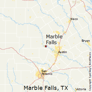 Marble_Falls,Texas Map