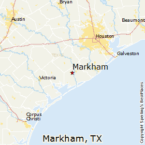Markham,Texas Map