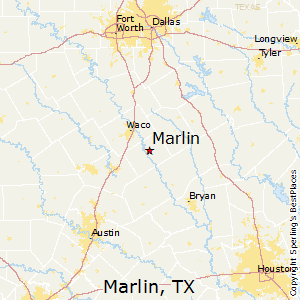 Marlin,Texas Map