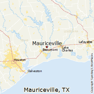 Mauriceville,Texas Map
