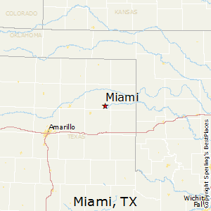 Miami,Texas Map