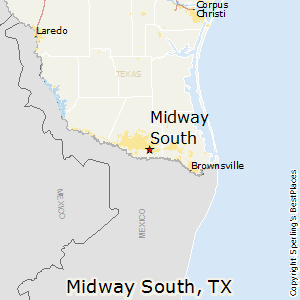 Midway_South,Texas Map