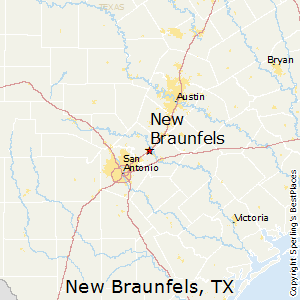 New Braunfels Texas Map Best Places to Live in New Braunfels, Texas