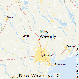 New_Waverly,Texas Map