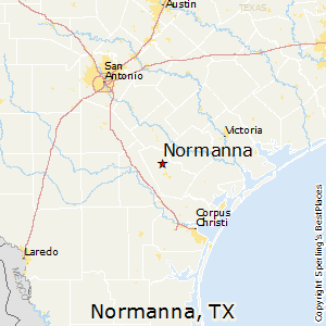Normanna,Texas Map